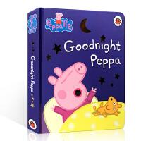 英文原版 Peppa Pig Goodnight Peppa 晚安佩奇 睡前故事 佩佩猪 粉红猪小妹 小猪佩奇 纸板书 儿童英语绘本