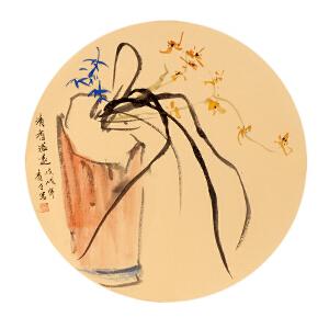 画家亲笔授权 杨青才《清香溢远》