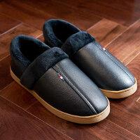 棉拖鞋男士包跟牛筋厚底防滑中老年长辈加厚保暖女