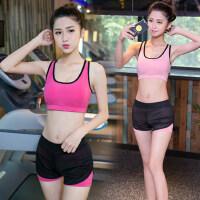 瑜伽服套装跑步套装健身房速干衣运动套装女短袖短裤