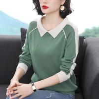 毛衣2021年新款女士套头宽松长袖外穿大码妈妈时尚休闲洋气针织衫