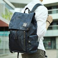 时尚迷彩男士双肩背包大容量旅游旅行背包商务电脑包休闲学生书包zl 迷彩蓝色