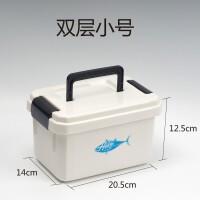 大储物容量钓鱼配件多功能工具小饵料收纳箱鱼渔具鱼线盒子用品