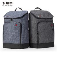 卡拉羊简约多功能休闲大容量男女旅行笔记本电脑背包初高中生双肩包成人双肩包CX5017