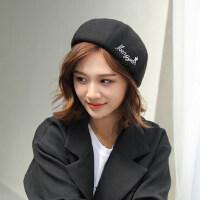 帽子女韩版潮时尚休闲百搭日系画家帽英伦南瓜帽春秋贝雷帽