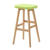 实木吧台凳子创意酒吧椅子高椅欧式时尚吧台凳木质前台高脚凳