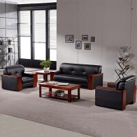 办公家具新款商务办公室接待会客办公沙发茶几组合现代简约三人位