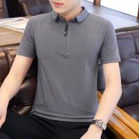 夏季男士短袖t恤韩版潮流纯棉衬衫领polo衫商务休闲男装