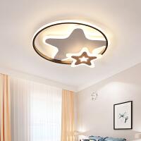 儿童房LED吸顶灯卧室简约现代圆形创意个性男女孩五角星房间灯具