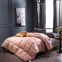 贝赛亚纤维被 保暖羽丝绒冬被春秋被芯 单人被子150*200cm 粉色