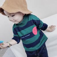 201805091811097046-9个月宝宝加绒卫衣婴幼儿冬装0一1-3岁男女童加厚上衣服宽松潮