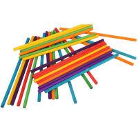 儿童DIY手工材料彩色圆木棍火柴棒美工材料沙盘建筑模型环保木棍智力_彩色火柴棍1000根