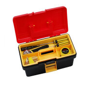 双层工具箱 多用收纳箱 多功能塑铁工具箱