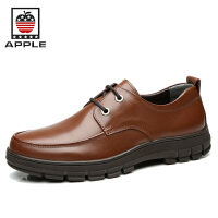 苹果APPLE男鞋 男士商务休闲鞋 头层牛皮正装皮鞋系带英伦鞋子男款4208056
