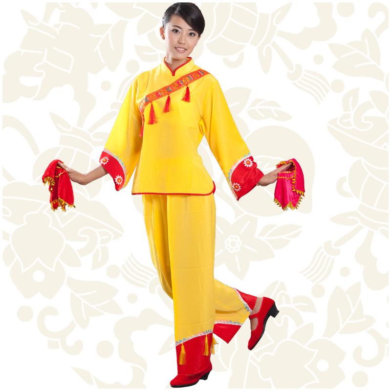 汉族民族舞蹈 秧歌舞广场舞表演服装舞台表演舞台装