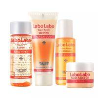 日本城野医生LaboLabo 零毛孔对策旅行4件套(水+霜+洁面乳+卸妆油)