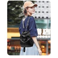 双肩包女 潮韩版百搭时尚pu软皮包包女背挎两用女士小背包