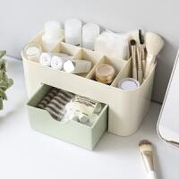 多功能桌面抽屉式收纳盒 简约多格化妆品梳妆盒 塑料迷你整理盒子