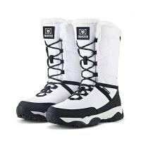 冬季户外雪地靴女高筒防水防滑雪鞋保暖棉鞋男加绒厚底情侣登山靴