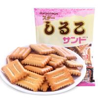 日本进口夹心饼干 松永北海道小麦红豆105g独立包装休闲零食小吃