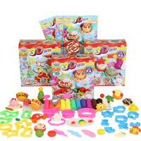 3D彩泥12色儿童橡皮泥手工彩泥模具粘土套装玩具