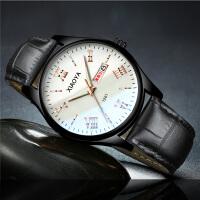 韩版简约手表男士潮流夜光学生钢带男表超薄夜光日历石英腕表