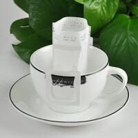 包邮 进口挂耳式咖啡滤纸 便携滴漏式滤泡网咖啡粉过滤袋100片枚