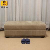 欧式换鞋凳鞋柜储物凳客厅脚凳沙发凳长条凳布艺沙发脚踏定制实木
