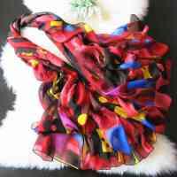 薇秋2015春节礼品丝巾 女式春秋长款丝巾 空调披肩 冬季保暖蚕丝围巾