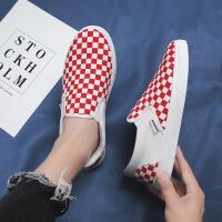 春夏季男士帆布鞋韩版拼色一脚蹬懒人鞋板鞋透气休闲鞋潮DC31