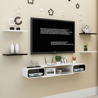 电视背景墙装饰卧室房间墙面墙壁置物架墙上置物架壁挂柜客厅影视