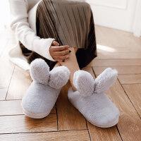 棉拖鞋女士包跟厚底可爱月子居家用室内保暖加绒情侣男士