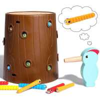 宝宝益智1-2岁3男孩女孩婴儿童啄木鸟吃抓捉虫子钓鱼玩具智力动脑
