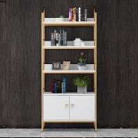 北欧书架置物架简约现代实木办公桌书柜书架落地创意多层收纳架子