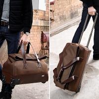 大容量男商务旅行包行李包手提旅行袋牛津布女士出差拉杆包旅游包 咖啡色 咖啡色 20寸 大