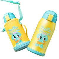 物生物儿童带吸管保温杯两用水防摔杯幼儿园小学生便携不锈钢水壶