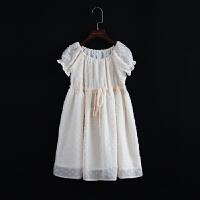 女童新款连衣裙娃娃裙插肩袖短袖连衣裙百褶裙公主裙蓬蓬裙宝宝裙