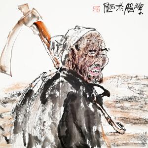 国家一级美术师 梁岩《人物》LL219