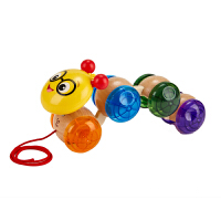 Hape拖拉摇晃毛毛虫1-6岁婴幼玩具木制玩具800807