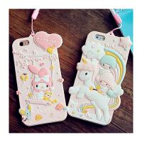 【包邮】智尚 iPhone6s手机壳硅胶卡通美乐蒂双子星 苹果6Plus保护套防
