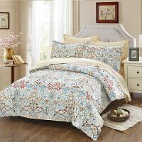 当当优品家纺 纯棉斜纹印花床品 双人床单四件套 梵蒂卡