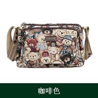 韩版时尚多隔层斜挎包帆布小熊大容量单肩包妈妈包大包包维尼女包
