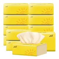 缘点抽纸超韧纸巾12包 4层加厚家用实惠装餐巾纸婴儿纸卫生纸面巾纸
