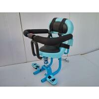 小天航电动摩托车儿童座椅前置踏板电动车电瓶车宝宝小孩婴儿电车 蓝色2条松紧绑带 安装工具拉杆弯片