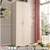 韩式田园单门两门衣柜衣橱欧式推拉双门米米 2门 组装