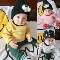婴儿装童针织衫宝宝开衫外套春季1岁3个月新生儿童毛衣新年