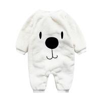 女婴儿连体衣服0岁7个月宝宝潮款内衣冬装新生儿男童秋冬季睡衣