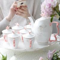 杯子套装家用水杯杯具客厅茶壶茶杯陶瓷凉水杯水具套装欧式水壶整s3m