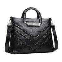 羊皮女包手提包欧美女士拼接单肩斜挎包休闲大包包
