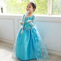 圣诞节儿童女童礼服白雪公主裙冰雪奇缘公主裙艾莎cosplay表演服